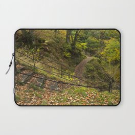 Steps and Autumnal woodland at Aira Force. Near Ullswater, Lake District, UK Laptop Sleeve