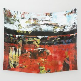 Jacksonville Orange Abstract Painting Wall Tapestry