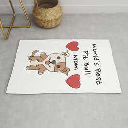 World's Best Pit Bull Mom   Cute Dog Mother Design Rug