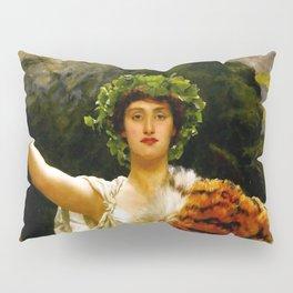 "John Collier ""The Priestess of Bacchus"" Pillow Sham"