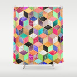 Colorful Cubes Shower Curtain