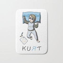 Sleeping artist KURT Bath Mat