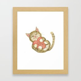 cute kitten, love, ART Framed Art Print
