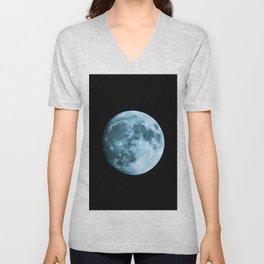 Moon - Space Photography Unisex V-Neck