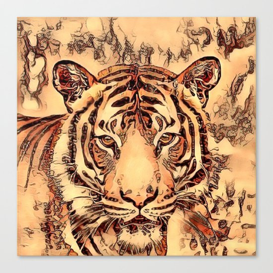 Animal ArtStudio- amazing Tiger Canvas Print