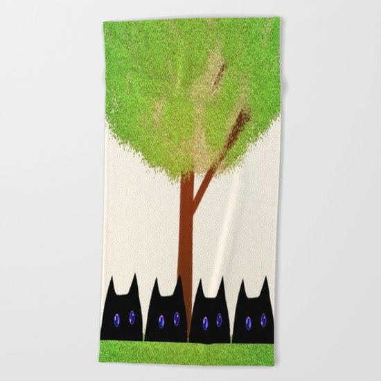 cat-186 Beach Towel