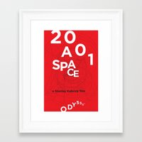 2001 a space odyssey Framed Art Prints featuring 2001: a space odyssey by Rodrigo Müller