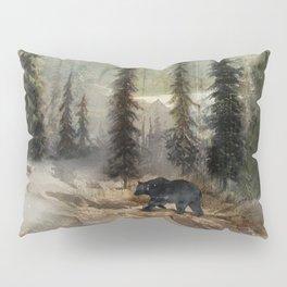 Mountain Black Bear Pillow Sham