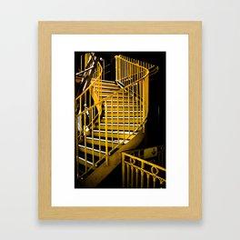 Yellow Staircase, Eiffel Tower Framed Art Print