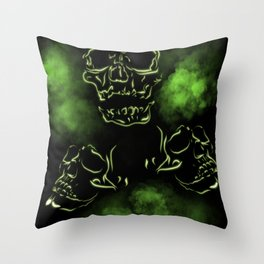 Lumated Skulls Throw Pillow