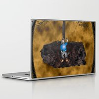 book cover Laptop & iPad Skins featuring Book Cover Illustration by Conceptualized