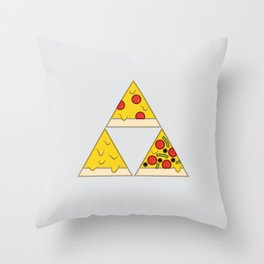 The Pizza Triforce Throw Pillow