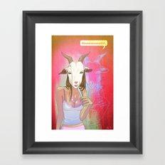 Hanging the Goat Head Framed Art Print