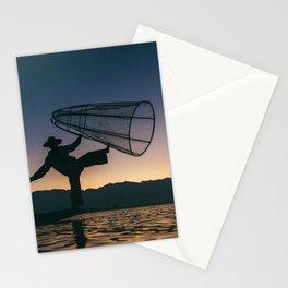 Burmese Fisherman Stationery Cards
