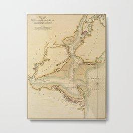 Hudson River 1776 Metal Print