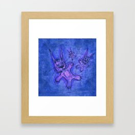 Record Cover for some Jazzed Rabbits, Blueish. Framed Art Print
