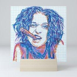 Ani Difranco Smokes Stogies Mini Art Print