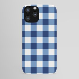 Buffalo Check - navy and white iPhone Case