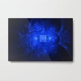 Blue Squared Universe 2 Metal Print