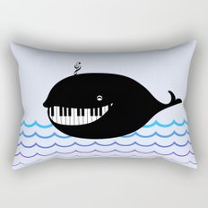 whale  (water proof piano!) Rectangular Pillow