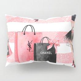 Fashion girl shopping Pillow Sham