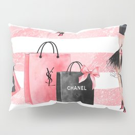Fashion girl shopping Pillow Sham