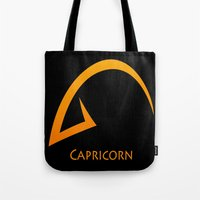 capricorn Tote Bags featuring Capricorn by Groovyal