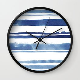 Watercolor Stripe Wall Clock