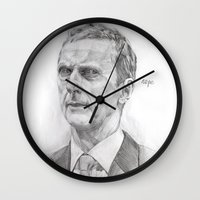 nope Wall Clocks featuring Nope by AngHuiQing