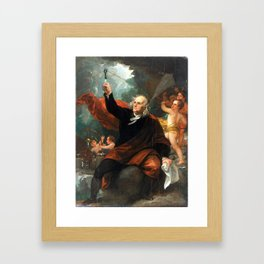 Benjamin West Benjamin Franklin Drawing Electricity from the Sky Framed Art Print