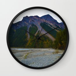 Kinney Flats on the Berg Lake Trail in British Columbia, Canada Wall Clock