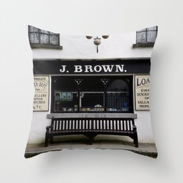 Store Front From the Past Throw Pillow