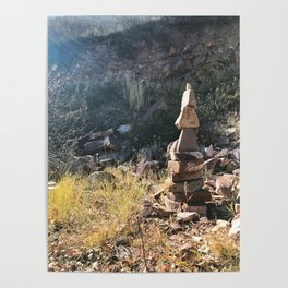 Red Mountain Cairn - Glenwood Springs, CO Poster