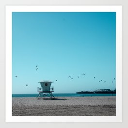 Birds and lifeguard Art Print