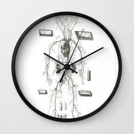 Human Anatomy Art Print VENOUS SYSTEM ARTERY Vintage Anatomy, doctor medical art, Antique Book Plate Wall Clock