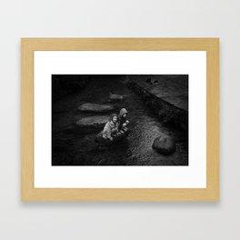 Stepping Stones. Framed Art Print