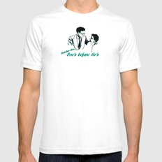 Advice White Mens Fitted Tee SMALL