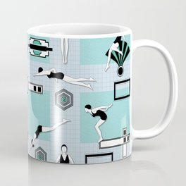 Art Deco Swimmers Coffee Mug