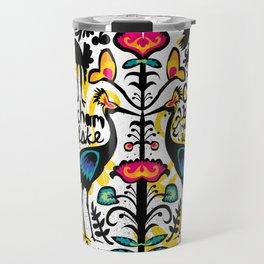 Wycinanki Folk Art Travel Mug