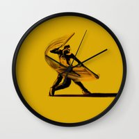 baseball Wall Clocks featuring Baseball by Enzo Lo Re