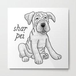 Dog Breeds: Shar Pei Metal Print