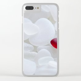 Drop of Red - Japanese Red Sea Glass Clear iPhone Case
