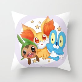 Pocket monster :XY Throw Pillow