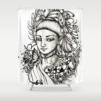 fairy Shower Curtains featuring Fairy by Anca Chelaru