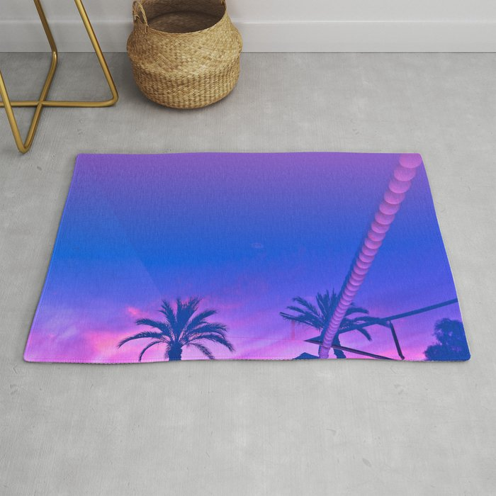 Palms and Sunset with Reverberation Rug