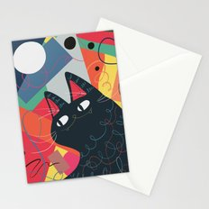 Trumpet Cat Stationery Cards