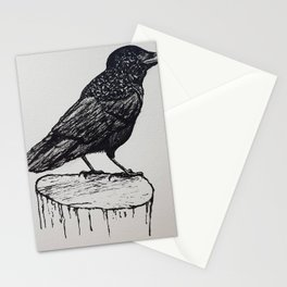 Observant Crow Stationery Cards