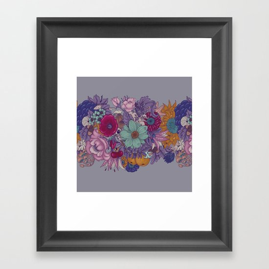 the wild side - colored Framed Art Print