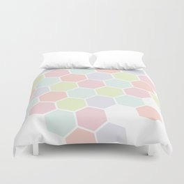 Pastel Buzz Duvet Cover
