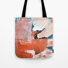 Interrupt [3]: a pretty minimal abstract acrylic piece in pink white and blue by Alyssa Hamilton Art Tote Bag